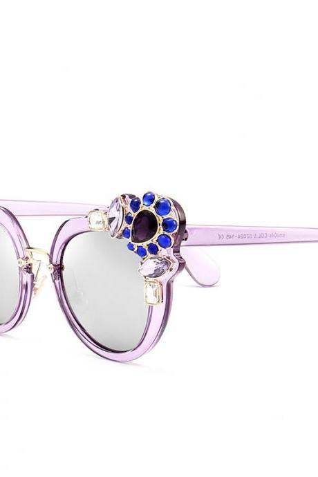 High Quality Cute Designer Sunglasses For Women - Light Purple