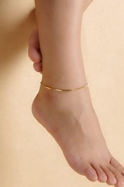 Free Shipping Gold Metal Daily Casual Anklet for Woman