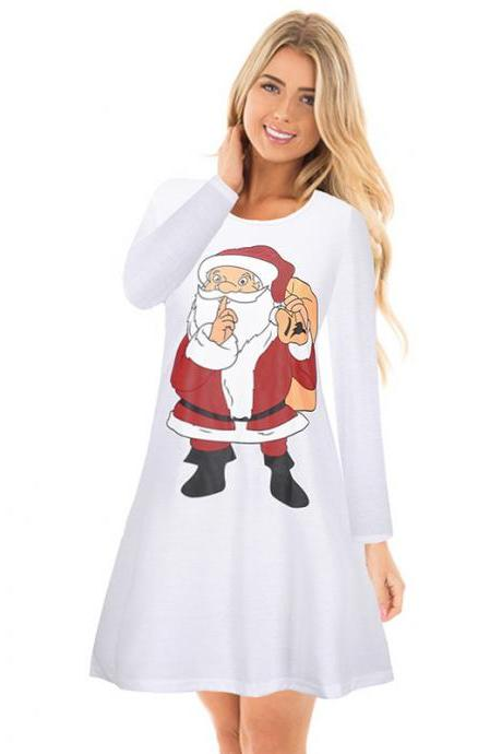 Free Shipping Christmas Dress - White