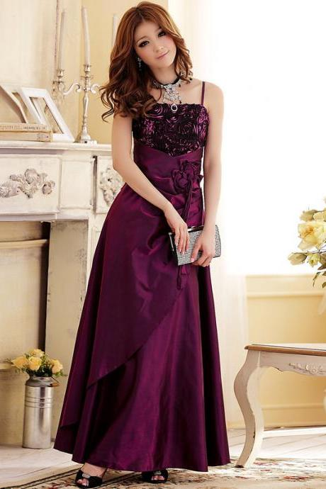 Fashion Elegant Formal Party Dress Long Evening Dresses - Purple