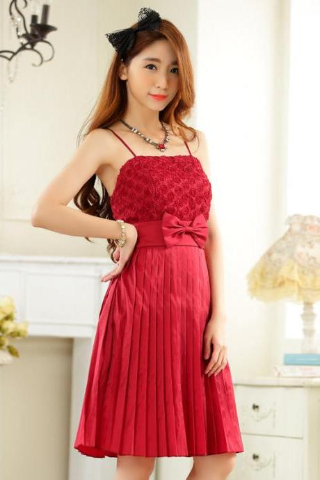 New Fashion Bow Women Elegant Evening Formal Party Dress