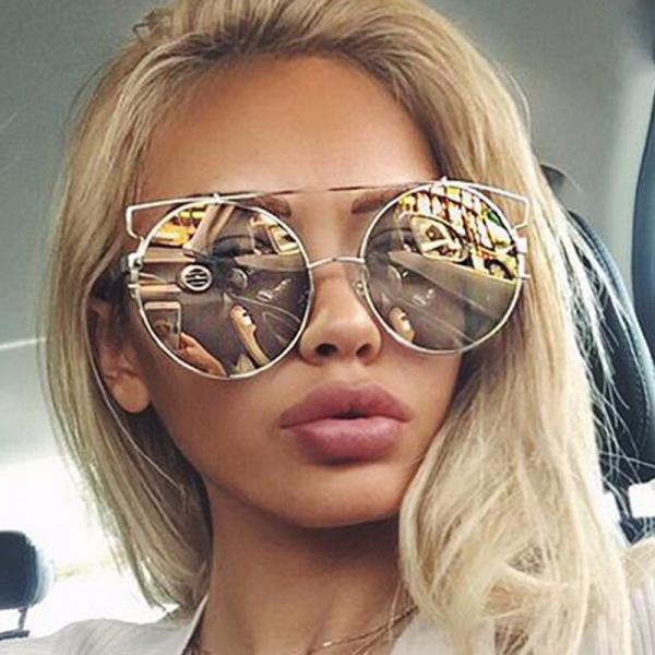 Free Shipping Fashion And High Quality Designer Sunglasses For Women - Gold