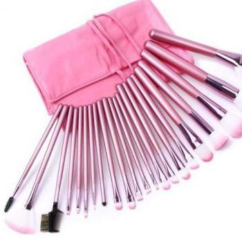 Hot Selling!!High Quality 22 PCS Professioal Makeup Brush Set With Leather Case
